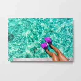 Vacation in the Maldives for the winter holidays Metal Print