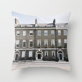 Bloomsbury Houses (London, England) Throw Pillow