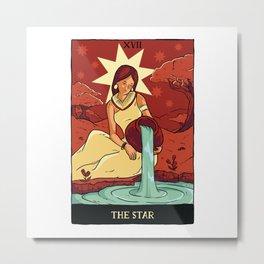 Aesthetic The Star Tarot Card Design Metal Print