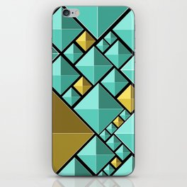 Blue and Gold iPhone Skin