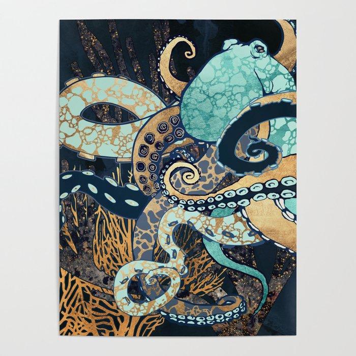 Metallic Octopus II Poster