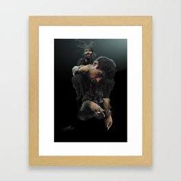 Heavy Shoulders Framed Art Print