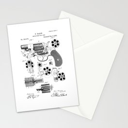 1881 Revolver Patent  Stationery Cards
