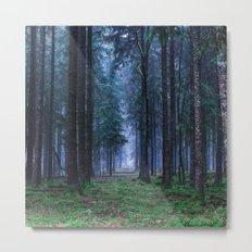 Green Magic Forest Metal Print