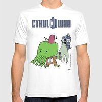 Cthul'Who SMALL Mens Fitted Tee White
