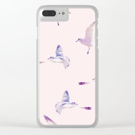 Pattern Birds Clear iPhone Case