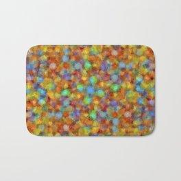 Abstract Watercolour Bubbly Pattern Bath Mat