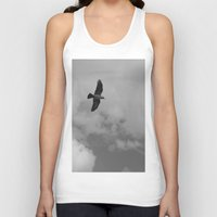 crow Tank Tops featuring crow by habish