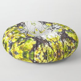 Leaves Blowing in the Wind Floor Pillow