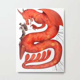 The Warrior and the Worm Metal Print