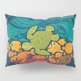 Aquatic Rainbow Pillow Sham