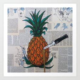 Ananas glitter love Art Print