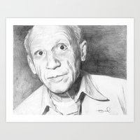 picasso Art Prints featuring Picasso by Brad Markley