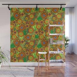 jewel tone floral Wall Mural
