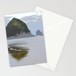 Illustrated Haystack Rock Stationery Cards