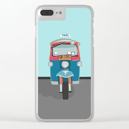 Thailand Tuk Tuk Taxi Travel Poster Clear iPhone Case