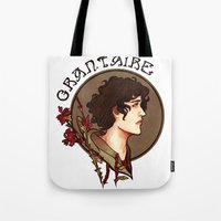 grantaire Tote Bags featuring grantaire by chazstity