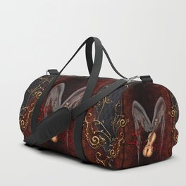 Violin with bow and clef Duffle Bag