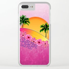 Surfer Girl Clear iPhone Case