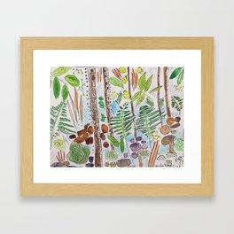 Woodland Life Framed Art Print