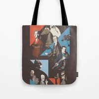 pain Tote Bags featuring Pain by Florey