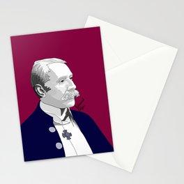 Edward Elgar (Raspberry Background) Stationery Cards