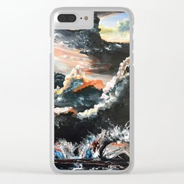 Chicago Bean At Edge Of Storm Clear iPhone Case