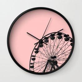 Ferris Wheel (Pink) Wall Clock