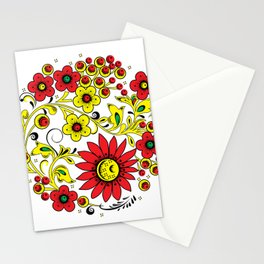 Floral hohloma Stationery Cards
