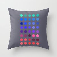 pantone Throw Pillows featuring Pantone 2 by lescapricesdefilles