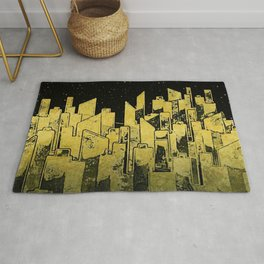 Night City in Gold Rug