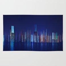 Miami Skyline Abstract Rug