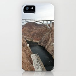 Lake Mead Spillway And Memorial Bridge iPhone Case