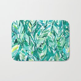 BANANA LEAF JUNGLE Green Tropical Bath Mat