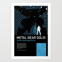 metal gear solid Art Prints featuring Metal Gear Solid by Michael Weinstein
