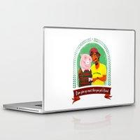 vegan Laptop & iPad Skins featuring Vegan by Bakal Evgeny