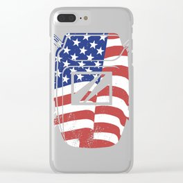 Big USA Flag Patriotic Welder Gift print For USA Welders Clear iPhone Case