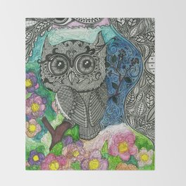 Little hoot Throw Blanket