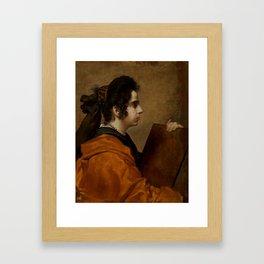 "Diego Velázquez ""A Sybil (Portrait of Juana Pacheco)"" Framed Art Print"