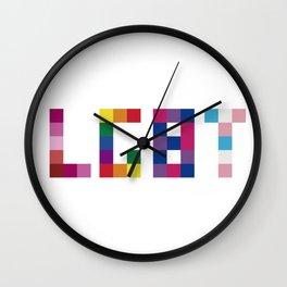 LGBT 8BIT PRIDE COLOR Wall Clock