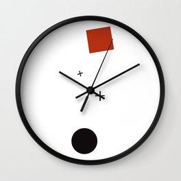 Geometric Abstract Malevic #1 Wall Clock