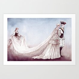 The Royal Wedding - From The Princess and the Pea - By: Hans Christian Andersen Art Print