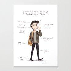 Anatomy of the Parisian (man) Canvas Print