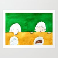 chocolate Art Prints featuring Chocolate by Satoshi OTA