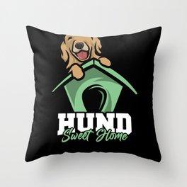 Dog sweet home Dog Sweet Home Throw Pillow