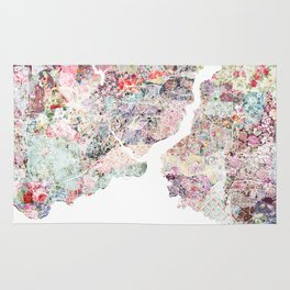 Istanbul map Rug