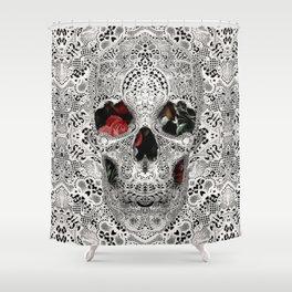 Lace Skull Light Shower Curtain