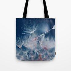 Snow Dandelion Tote Bag