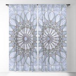 Purple Geometric Flower Boho Design - c13054.10 Sheer Curtain