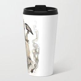 Afsoun  and the crow Travel Mug
